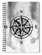 Compass-black Spiral Notebook