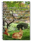 Compassion And Goodness Spiral Notebook
