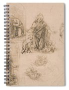 Compositional Sketches For The Virgin Adoring The Christ Child Spiral Notebook