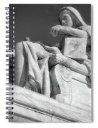 Comtemplation Of Justice 1 Bw Spiral Notebook