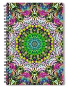 Concentric Colors Abstract Spiral Notebook