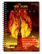 Concept Magazine Cover For The Imaginary New York Weekend Journal 5 Jan 2018 V2 Spiral Notebook