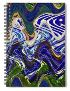 Condos On The Beach Abstract Spiral Notebook