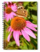 Cone Flower Visitor Spiral Notebook