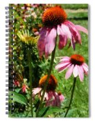 Coneflowers In Garden Spiral Notebook