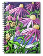 Coneflowers In Gentle Wind Spiral Notebook