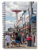 Coney Island Boardwalk II Spiral Notebook