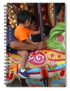 Coney Island Carousel Spiral Notebook