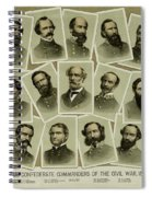 Confederate Commanders Of The Civil War Spiral Notebook