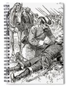Confederate General John Brown Gordon Assists Wounded Union General Francis Channing Barlow Spiral Notebook