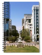 Confederate Monument With Buildings Spiral Notebook