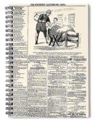 Confederate Newspaper Spiral Notebook