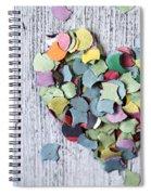 Confetti Heart Spiral Notebook