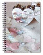 Confetti Hearts Spiral Notebook