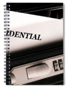 Confidential Documents Spiral Notebook