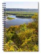 Confluence Of Mississippi And Wisconsin Rivers Spiral Notebook