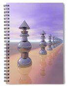 Conical Geometric Progression Spiral Notebook