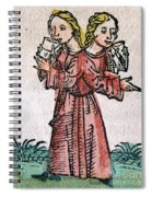 Conjoined Twins, Nuremberg Chronicle Spiral Notebook