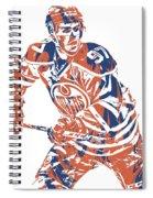 Connor Mcdavid Edmonton Oilers Pixel Art 3 Spiral Notebook