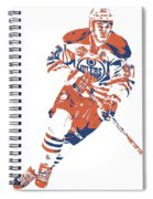 Connor Mcdavid Edmonton Oilers Pixel Art 6 Spiral Notebook