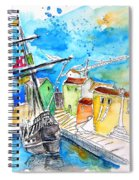 Conquistador Boat In Portugal Spiral Notebook