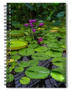 Conservatory Waterlilies Spiral Notebook