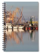 Construction Of Oil Platform With Boats Spiral Notebook