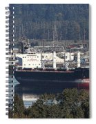 Container Ship Ready To Load More Lumber Spiral Notebook