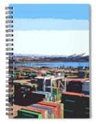 Container Terminal Spiral Notebook