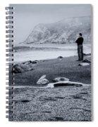Contemplation - Beach - California Spiral Notebook