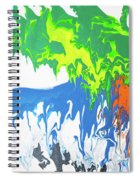 Contemporary Painting Of Moose Spiral Notebook