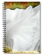 Contemporary White Iris Spiral Notebook