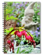 Content Gnome With Bleeding Hearts Spiral Notebook
