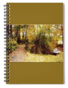 Contented Path Spiral Notebook