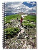Continental Divide Above Twin Lakes 7 - Weminuche Wilderness Spiral Notebook