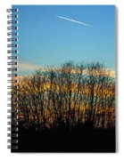 Contrail At Dusk Spiral Notebook