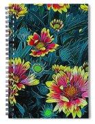 Contrasting Colors Digital Art Spiral Notebook