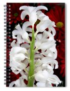 Contrasting Red And White Flowers Spiral Notebook