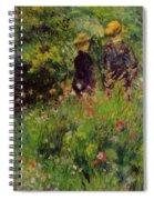 Conversation In A Rose Garden 1876 Spiral Notebook