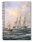 Convoy Of East Indiamen Amid Fishing Boats Spiral Notebook