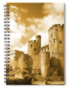 Conwy Castle And The Telford Suspension Bridge North Wales Spiral Notebook