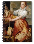 Cook With Chicken. In The Background Christ With Mary And Martha Spiral Notebook