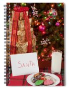 Cookies And Milk For Santa Spiral Notebook
