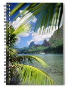 Cooks Bay With Sailboat Spiral Notebook