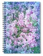 Cool Blue Apple Blossoms Spiral Notebook