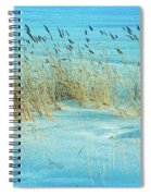Cool Blue Blowing In The Wind Spiral Notebook