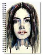 Cool Colored Watercolor Face Spiral Notebook