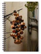 Cool Copper Pots - Parisian Restaurant Left Bank La Rive Gauche Spiral Notebook