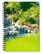 Cool Green Waterfall Spiral Notebook