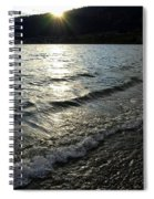 Cool Waters Sunset Spiral Notebook